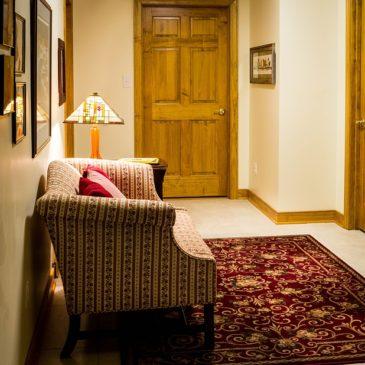 Nebenräume beim häuslichen Arbeitszimmer